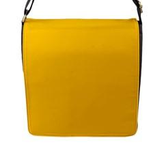 Amber Solid Color  Flap Messenger Bag (l)  by SimplyColor