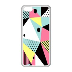 Geometric Polka Triangle Dots Line Apple Iphone 5c Seamless Case (white) by Mariart