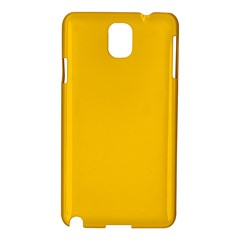 Amber Solid Color  Samsung Galaxy Note 3 N9005 Hardshell Case by SimplyColor