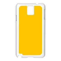 Amber Solid Color  Samsung Galaxy Note 3 N9005 Case (white) by SimplyColor