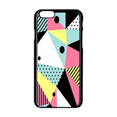 Geometric Polka Triangle Dots Line Apple Iphone 6/6s Black Enamel Case by Mariart
