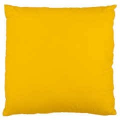 Amber Solid Color  Standard Flano Cushion Case (two Sides) by SimplyColor