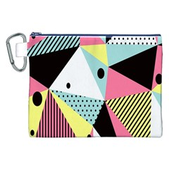 Geometric Polka Triangle Dots Line Canvas Cosmetic Bag (xxl) by Mariart