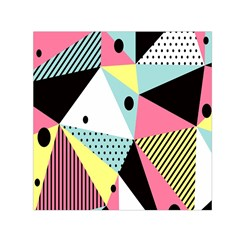 Geometric Polka Triangle Dots Line Small Satin Scarf (square) by Mariart