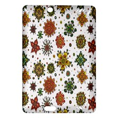 Flower Floral Sunflower Rose Pattern Base Amazon Kindle Fire Hd (2013) Hardshell Case by Mariart