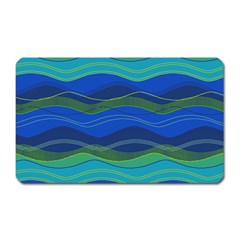 Geometric Line Wave Chevron Waves Novelty Magnet (rectangular) by Mariart