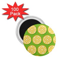 Lime Orange Yellow Green Fruit 1 75  Magnets (100 Pack)  by Mariart
