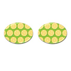 Lime Orange Yellow Green Fruit Cufflinks (oval) by Mariart