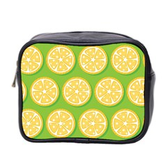Lime Orange Yellow Green Fruit Mini Toiletries Bag 2 Side by Mariart