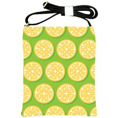 Lime Orange Yellow Green Fruit Shoulder Sling Bags by Mariart