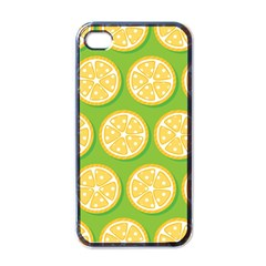 Lime Orange Yellow Green Fruit Apple Iphone 4 Case (black) by Mariart