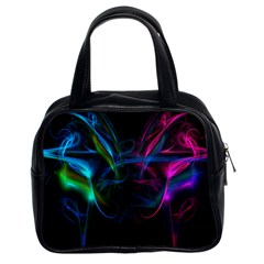 Light Waves Light Red Blue Classic Handbags (2 Sides) by Mariart