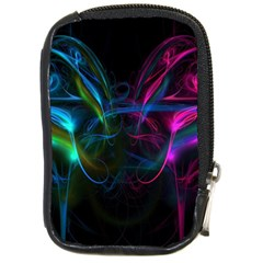 Light Waves Light Red Blue Compact Camera Cases by Mariart