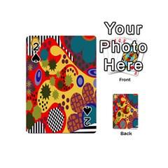 Line Star Polka Dots Plaid Circle Playing Cards 54 (mini)  by Mariart
