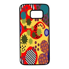 Line Star Polka Dots Plaid Circle Samsung Galaxy S7 Black Seamless Case by Mariart