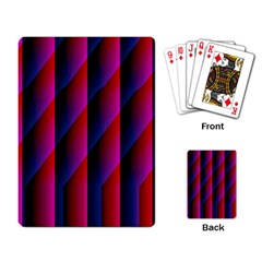 Photography Illustrations Line Wave Chevron Red Blue Vertical Light Playing Card by Mariart