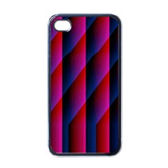 Photography Illustrations Line Wave Chevron Red Blue Vertical Light Apple Iphone 4 Case (black) by Mariart