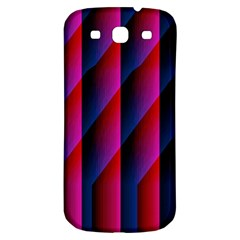 Photography Illustrations Line Wave Chevron Red Blue Vertical Light Samsung Galaxy S3 S Iii Classic Hardshell Back Case by Mariart