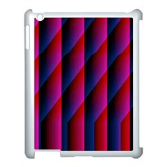 Photography Illustrations Line Wave Chevron Red Blue Vertical Light Apple Ipad 3/4 Case (white) by Mariart