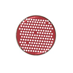 Pink White Polka Dots Hat Clip Ball Marker by Mariart