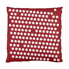 Pink White Polka Dots Standard Cushion Case (one Side) by Mariart