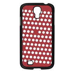 Pink White Polka Dots Samsung Galaxy S4 I9500/ I9505 Case (black) by Mariart