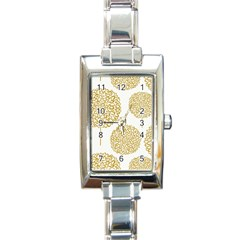 Loboloup Hydrangea Quote Floral And Botanical Flower Rectangle Italian Charm Watch by Mariart