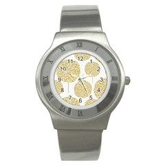 Loboloup Hydrangea Quote Floral And Botanical Flower Stainless Steel Watch by Mariart