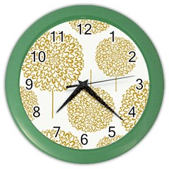 Loboloup Hydrangea Quote Floral And Botanical Flower Color Wall Clocks by Mariart