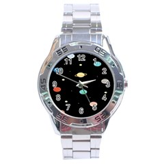 Planets Space Stainless Steel Analogue Watch by Mariart