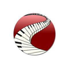Piano Keys Music Magnet 3  (round) by Mariart