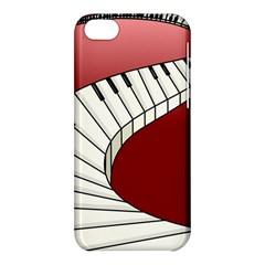 Piano Keys Music Apple Iphone 5c Hardshell Case by Mariart