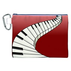 Piano Keys Music Canvas Cosmetic Bag (xxl) by Mariart