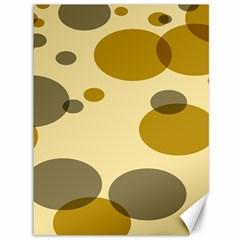 Polka Dots Canvas 36  X 48   by Mariart