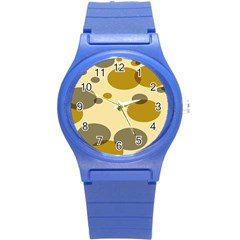 Polka Dots Round Plastic Sport Watch (s) by Mariart
