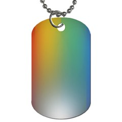 Rainbow Flag Simple Dog Tag (two Sides) by Mariart