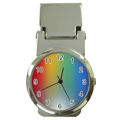 Rainbow Flag Simple Money Clip Watches by Mariart