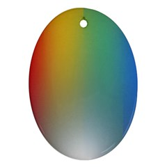 Rainbow Flag Simple Oval Ornament (two Sides) by Mariart