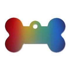 Rainbow Flag Simple Dog Tag Bone (two Sides) by Mariart