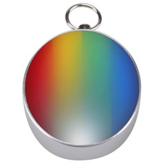 Rainbow Flag Simple Silver Compasses by Mariart
