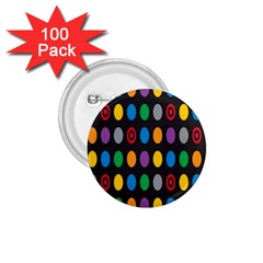 Polka Dots Rainbow Circle 1 75  Buttons (100 Pack)  by Mariart