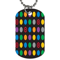 Polka Dots Rainbow Circle Dog Tag (two Sides) by Mariart