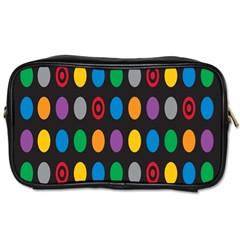 Polka Dots Rainbow Circle Toiletries Bags by Mariart