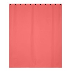 Coral Solid Color  Shower Curtain 60  X 72  (medium)  by SimplyColor