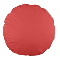 Coral Solid Color  Large 18  Premium Flano Round Cushions by SimplyColor