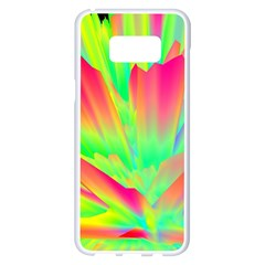 Screen Random Images Shadow Green Yellow Rainbow Light Samsung Galaxy S8 Plus White Seamless Case by Mariart