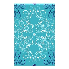 Repeatable Flower Leaf Blue Shower Curtain 48  X 72  (small)  by Mariart
