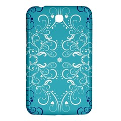 Repeatable Flower Leaf Blue Samsung Galaxy Tab 3 (7 ) P3200 Hardshell Case  by Mariart