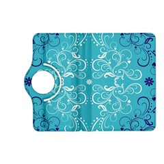 Repeatable Flower Leaf Blue Kindle Fire Hd (2013) Flip 360 Case by Mariart