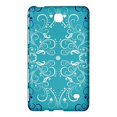 Repeatable Flower Leaf Blue Samsung Galaxy Tab 4 (7 ) Hardshell Case  by Mariart